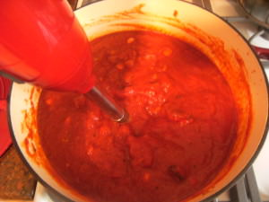making fire roasted tomato sauce-2