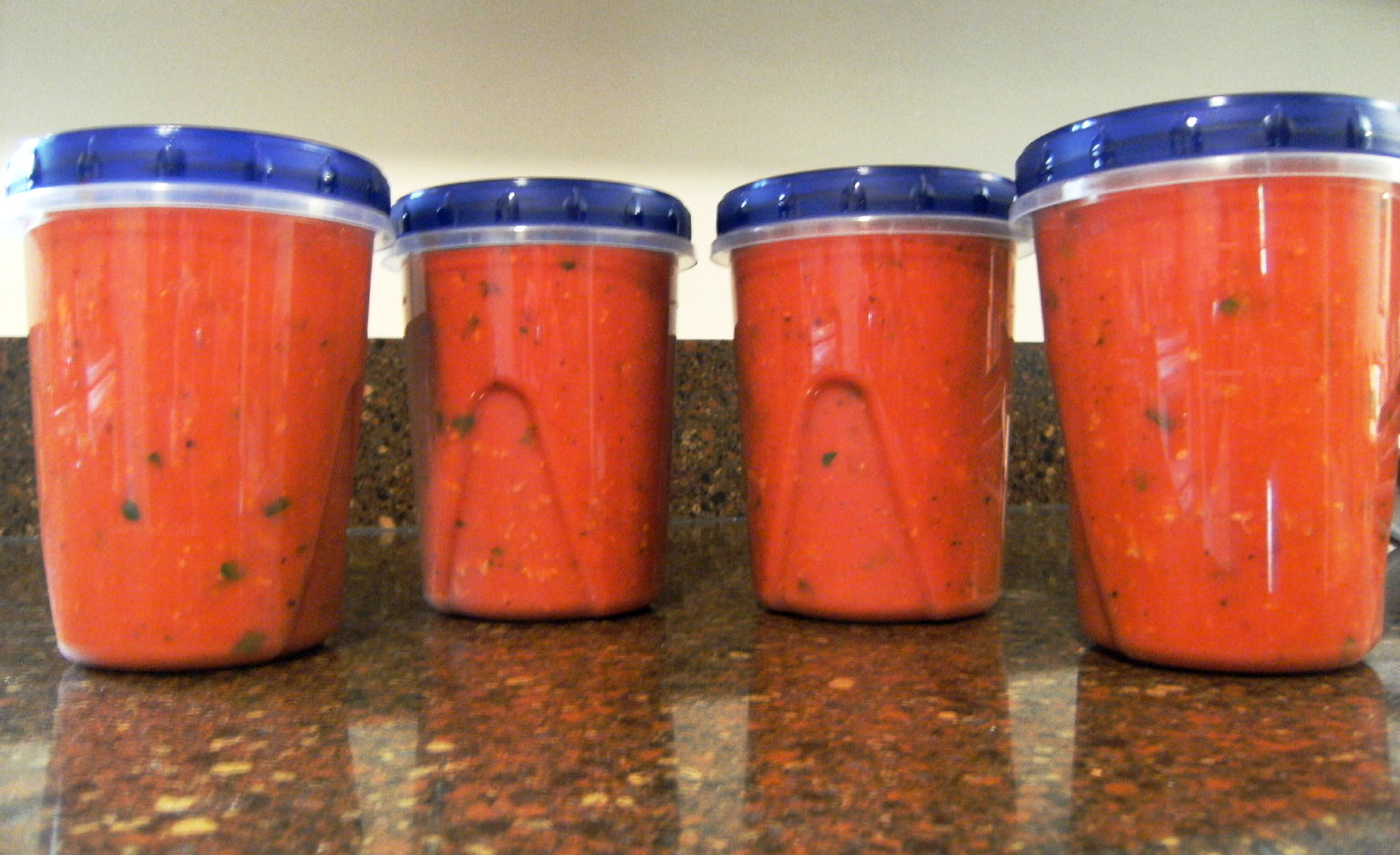 packaged fire roasted tomato sauce for the freezer