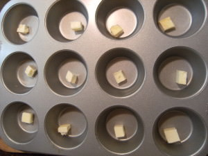 butter in a baking pan