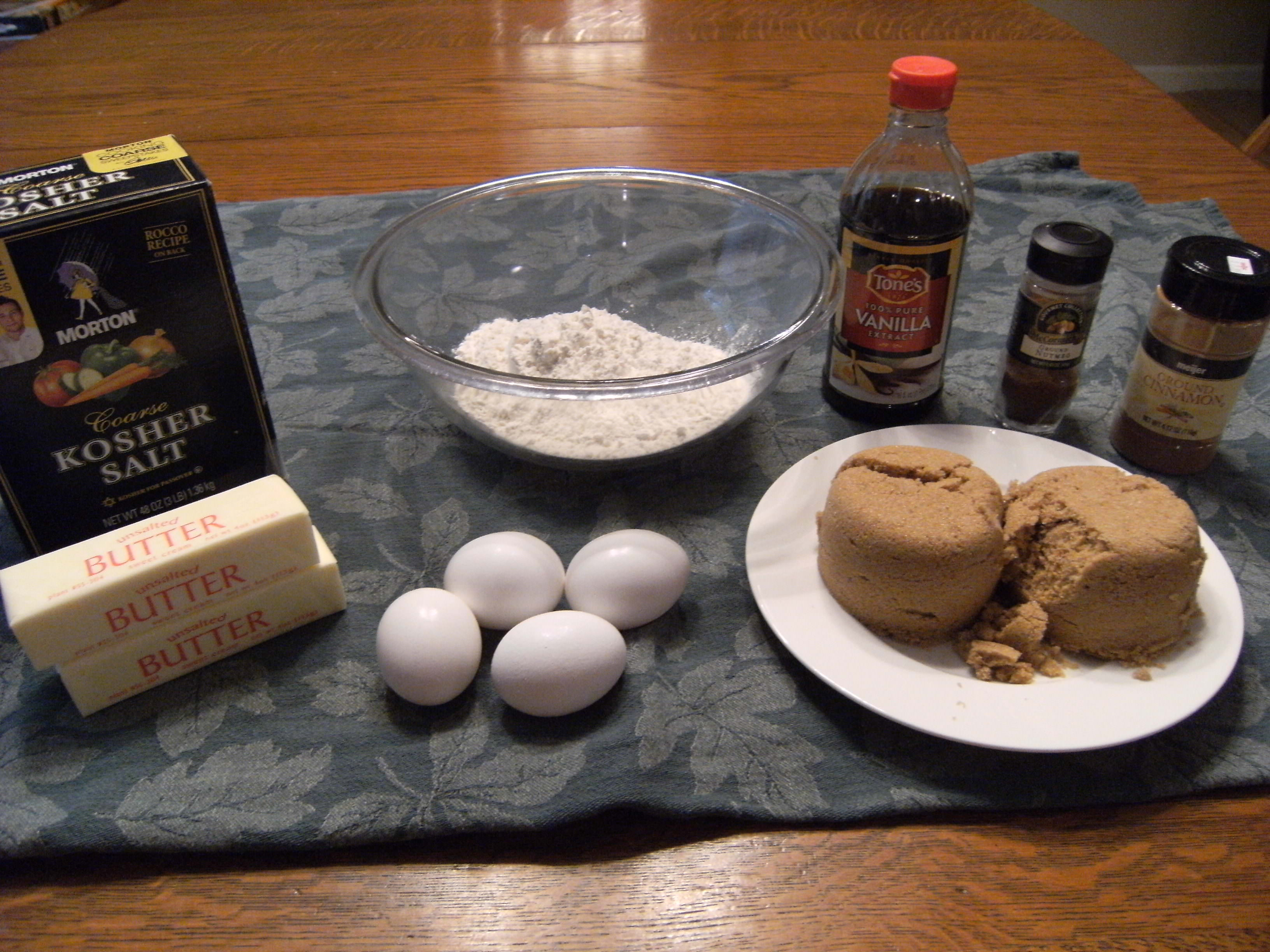 ingredients needed to make blondies