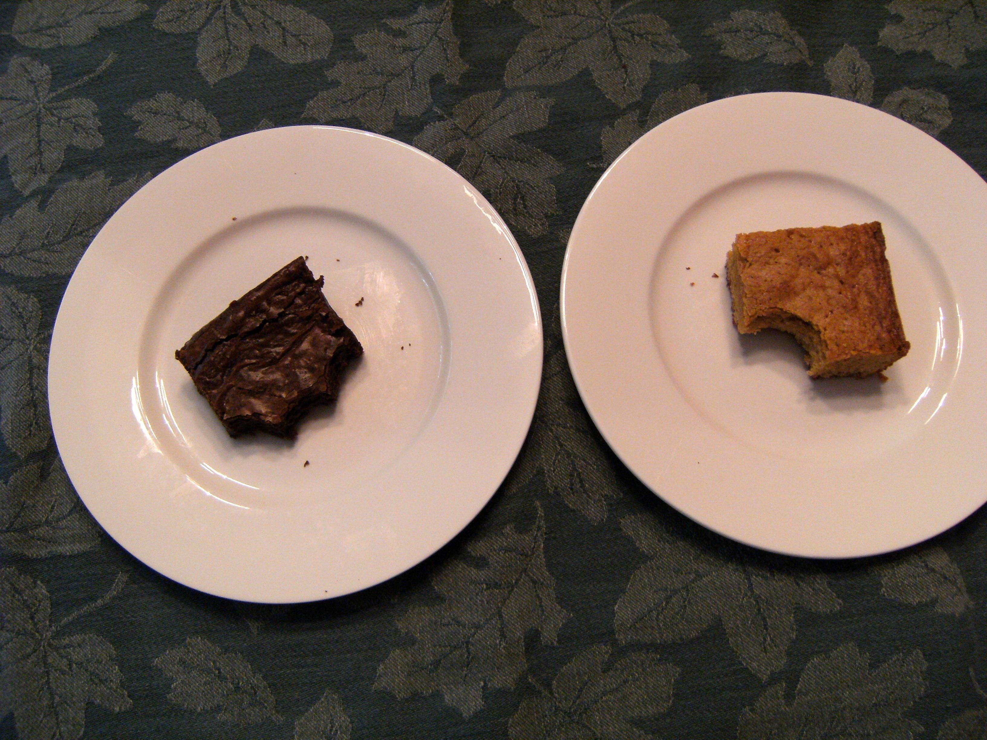 Blondies vs. Brownies - See which dessert won our taste test throw down and get recipes for both of them on ComfortablyDomestic.com