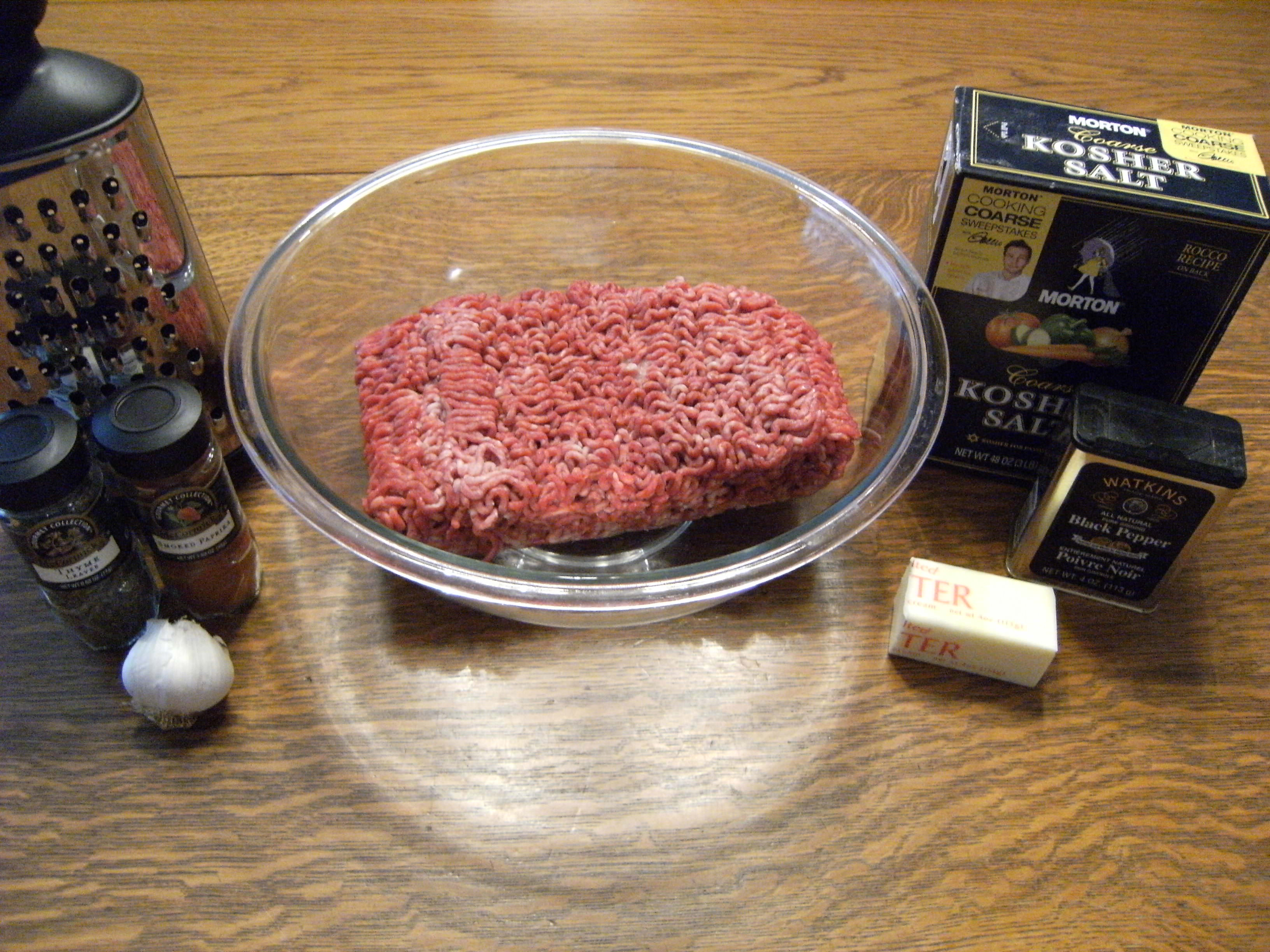 Ingredients needed to make butter burgers - get the recipe at comfortablydomestic.com