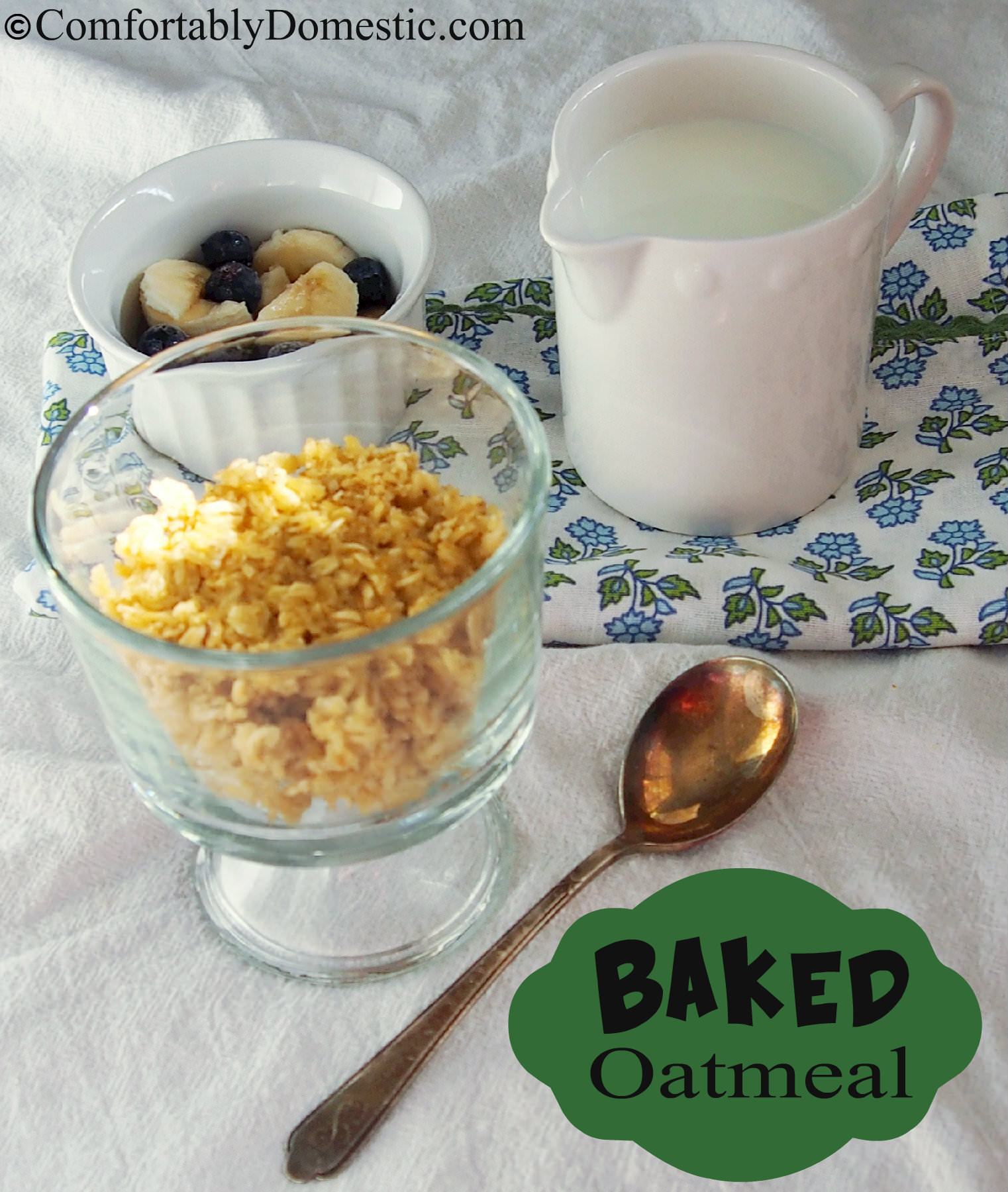 Hearty Baked Oatmeal - Get the recipe from ComfortablyDomestic.com