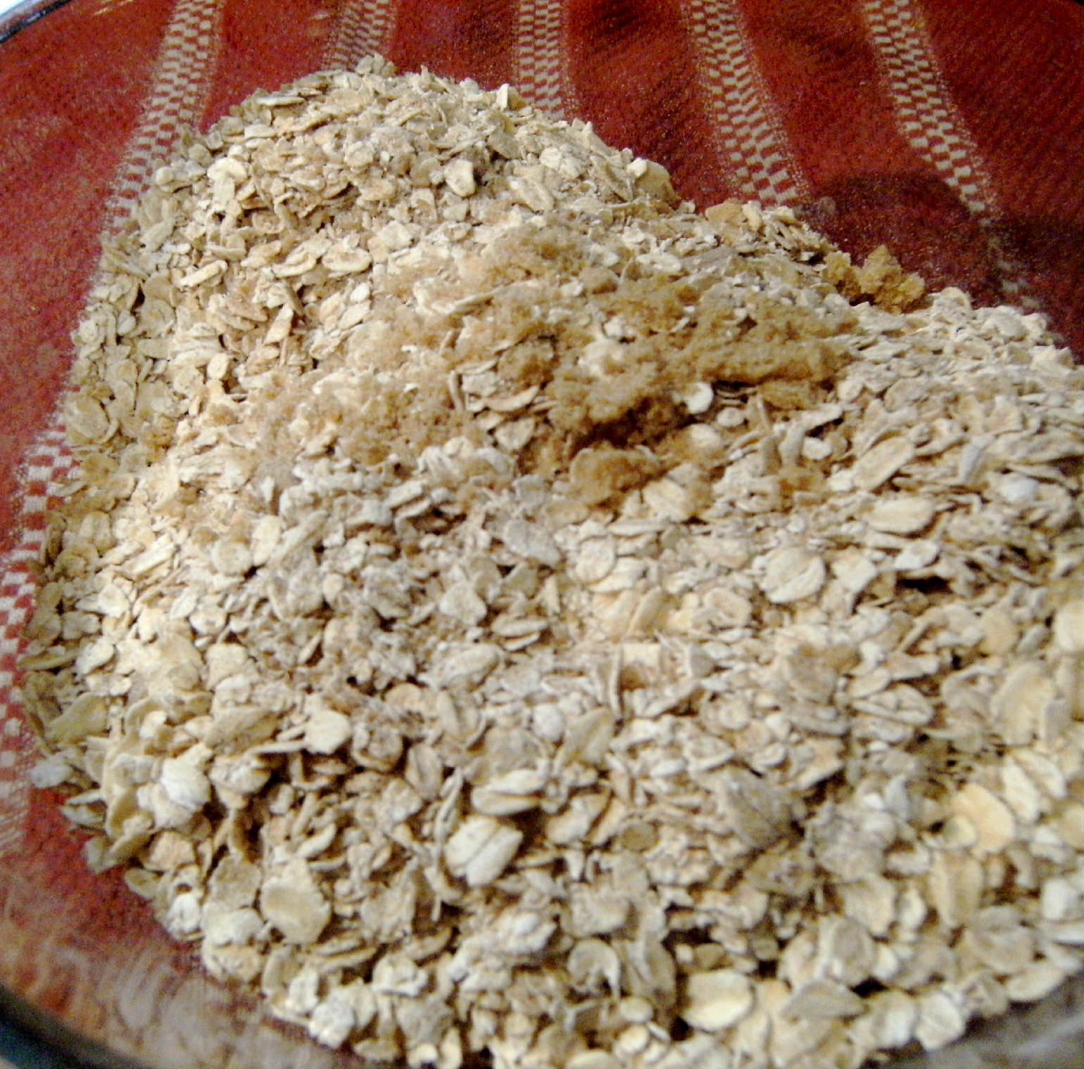 adding sugar to dry ingredients for baked oatmeal recipe