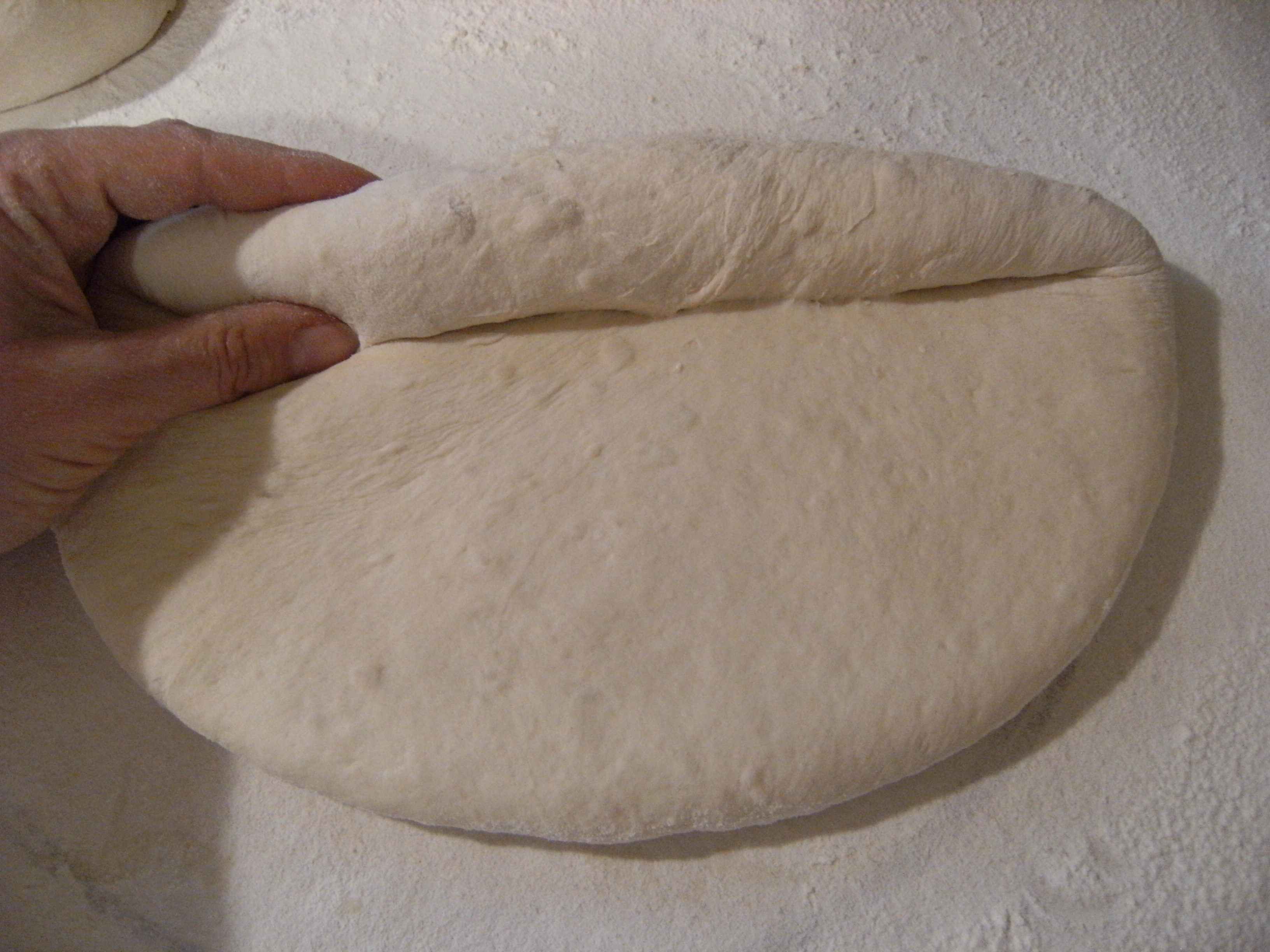 homemade-sourdough-rolling the dough