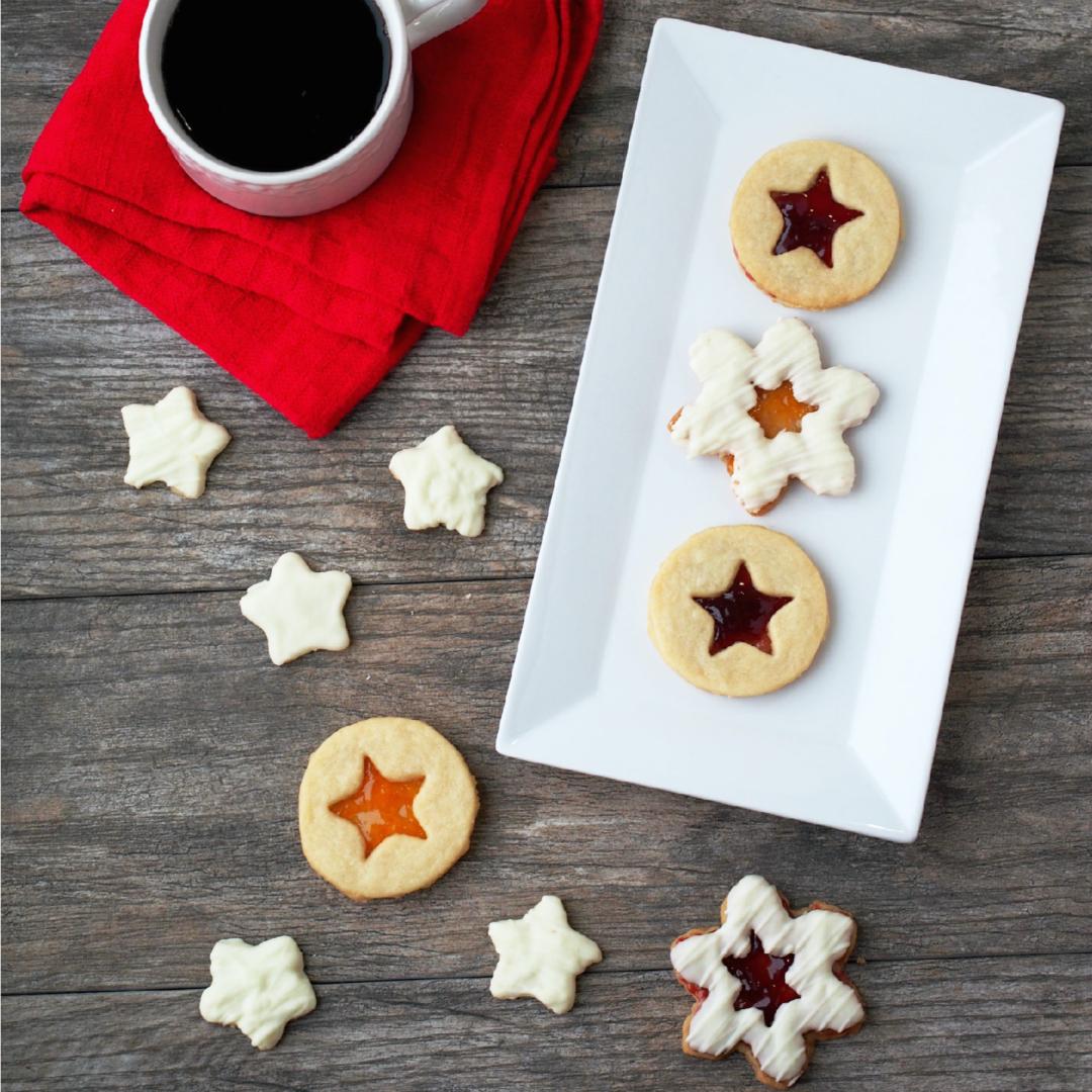 Shortbread Linzer Cookies {Cookie Week}