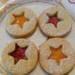 More Cookie Week: Shortbread Linser Cookies
