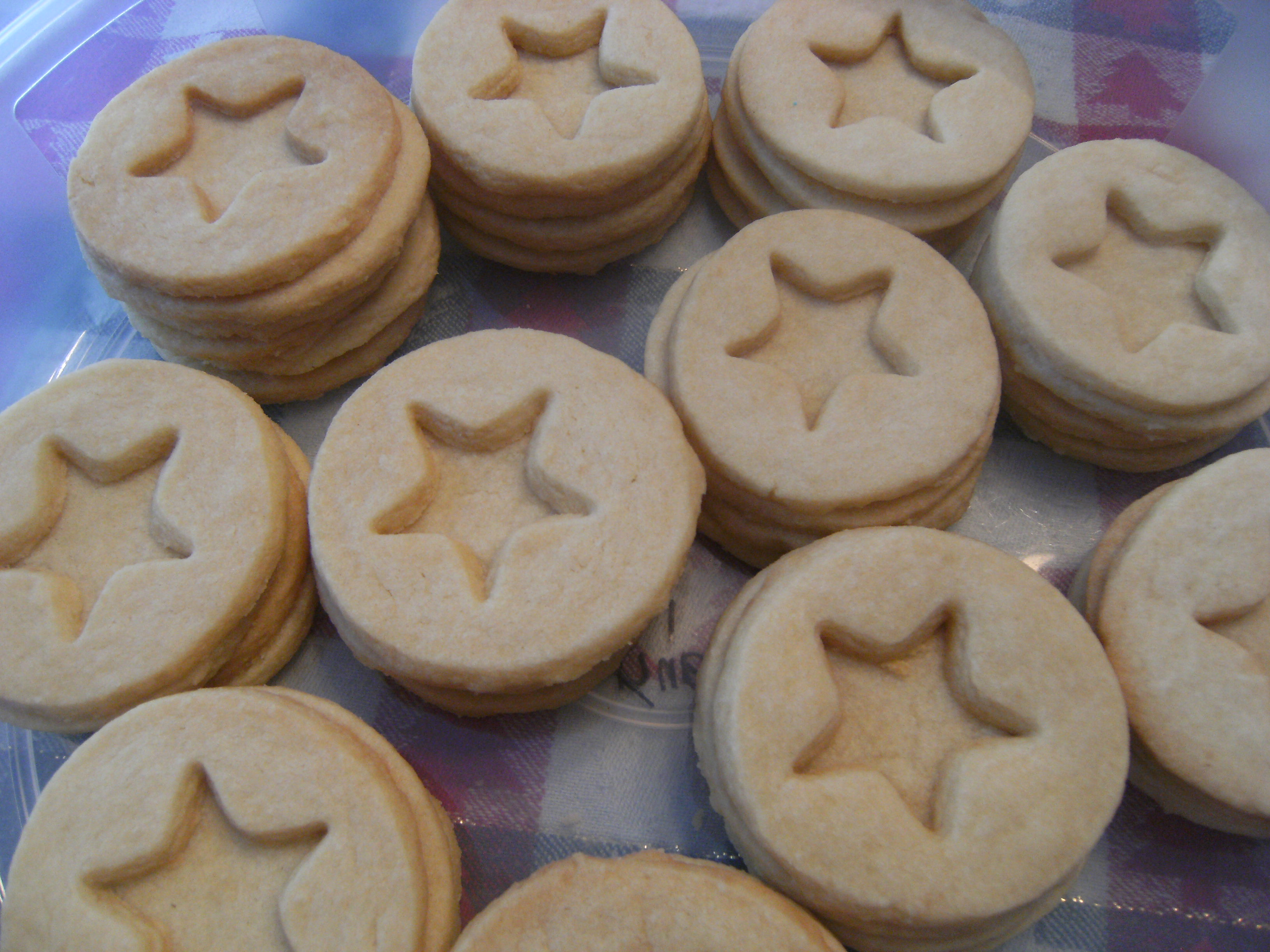 Shortbread Linzer Cookies, unfilled