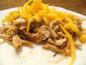 Shredded Chicken Tacos Recipe, made in a slow cooker - from ComfortablyDomestic.com