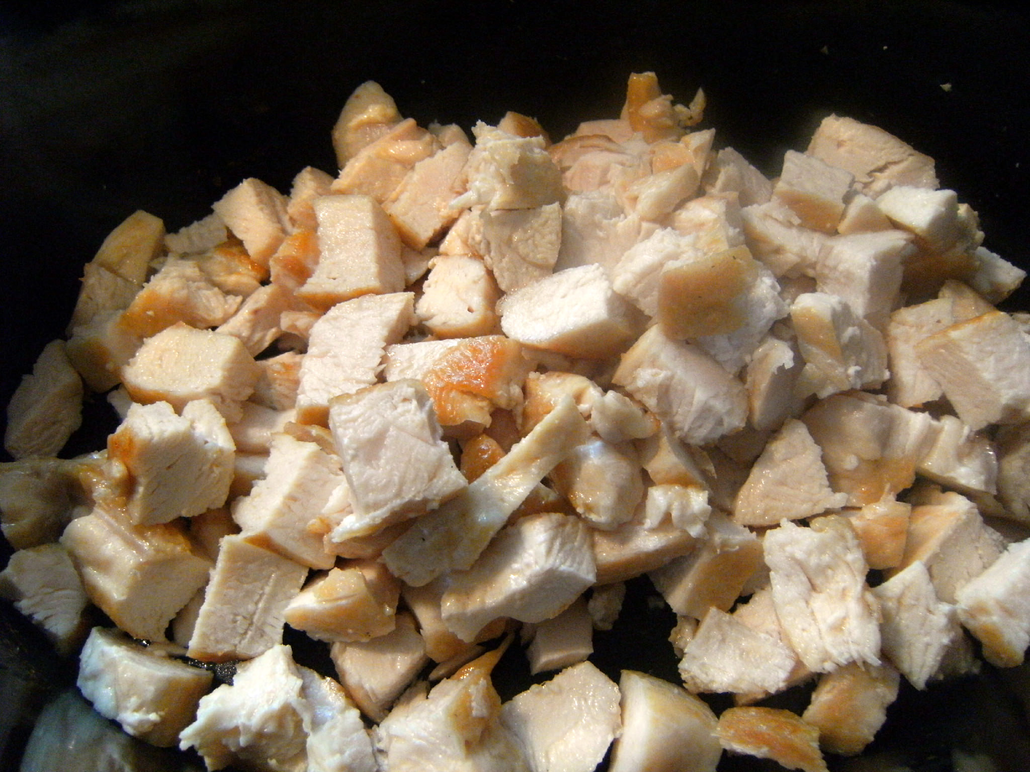 cooked chicken breast, cut into cubes