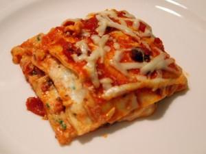 Lasagna for Christmas Eve Dinner