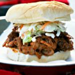 Super Bowl Party Food, including slow cooker BBQ Pulled Pork Sandwiches