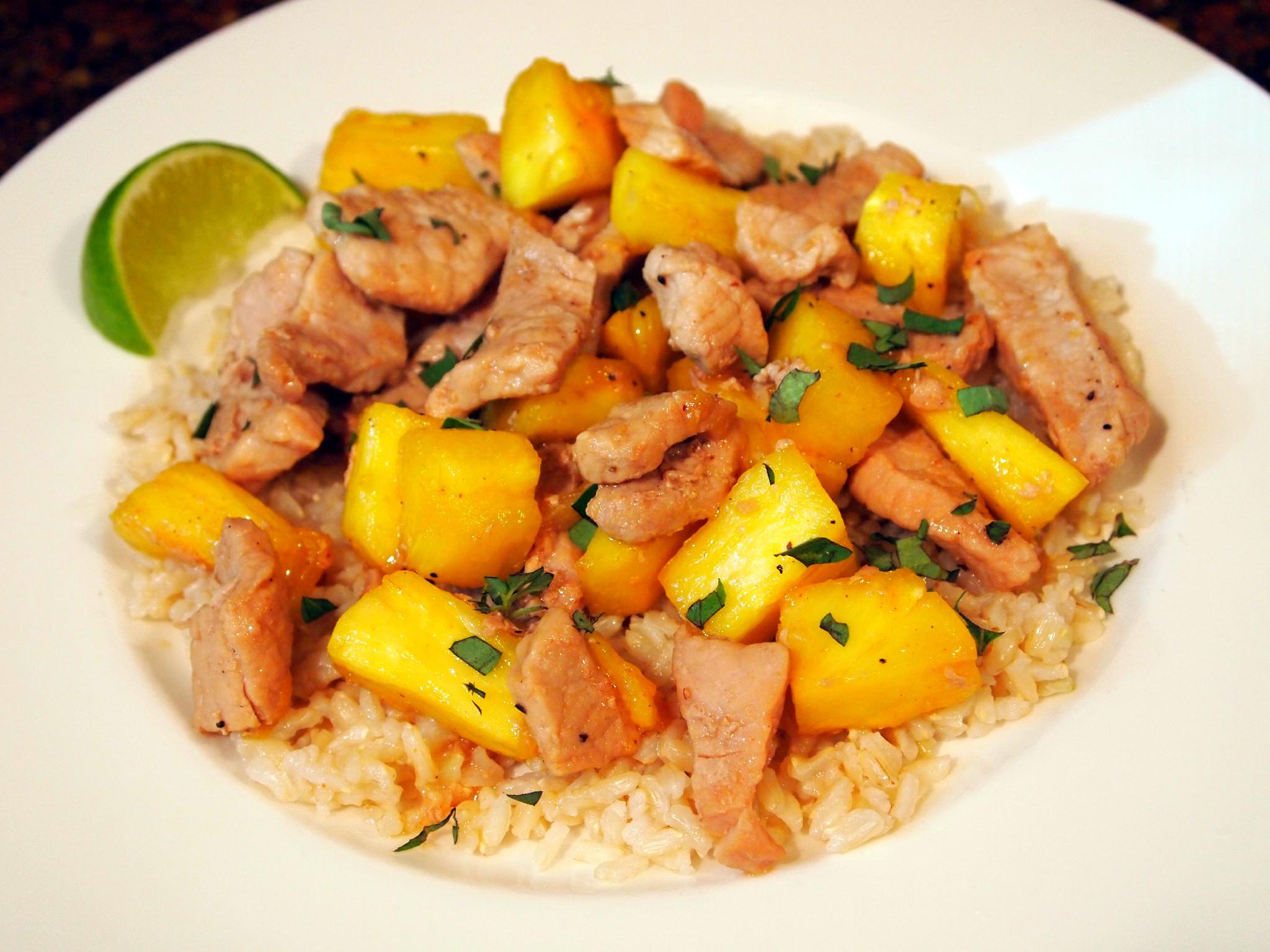 Pork and Pineapple Stir Fry