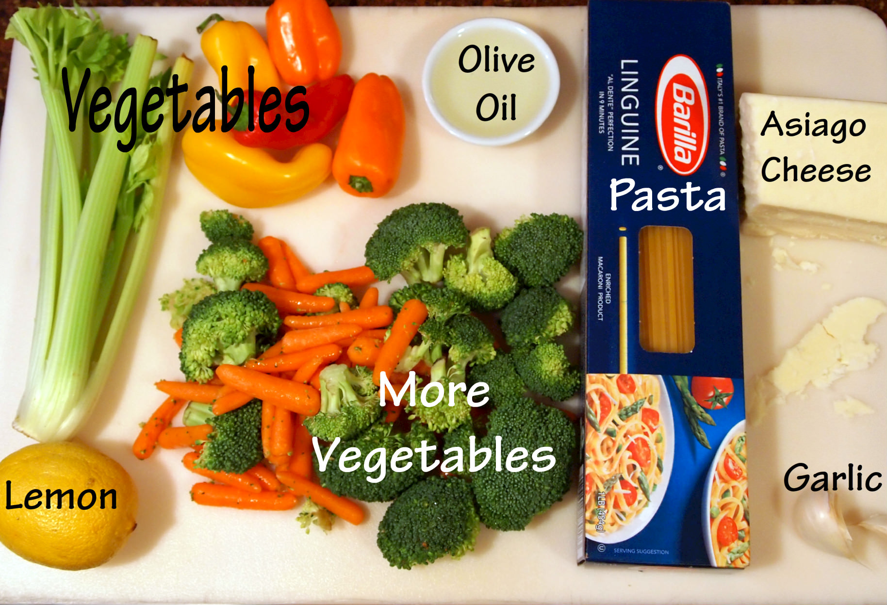 Ingredients needed to make pasta primavera | Recipe on comfortablydomestic.com
