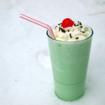 Shamrock Shakes {and Grasshopper Cocktails}