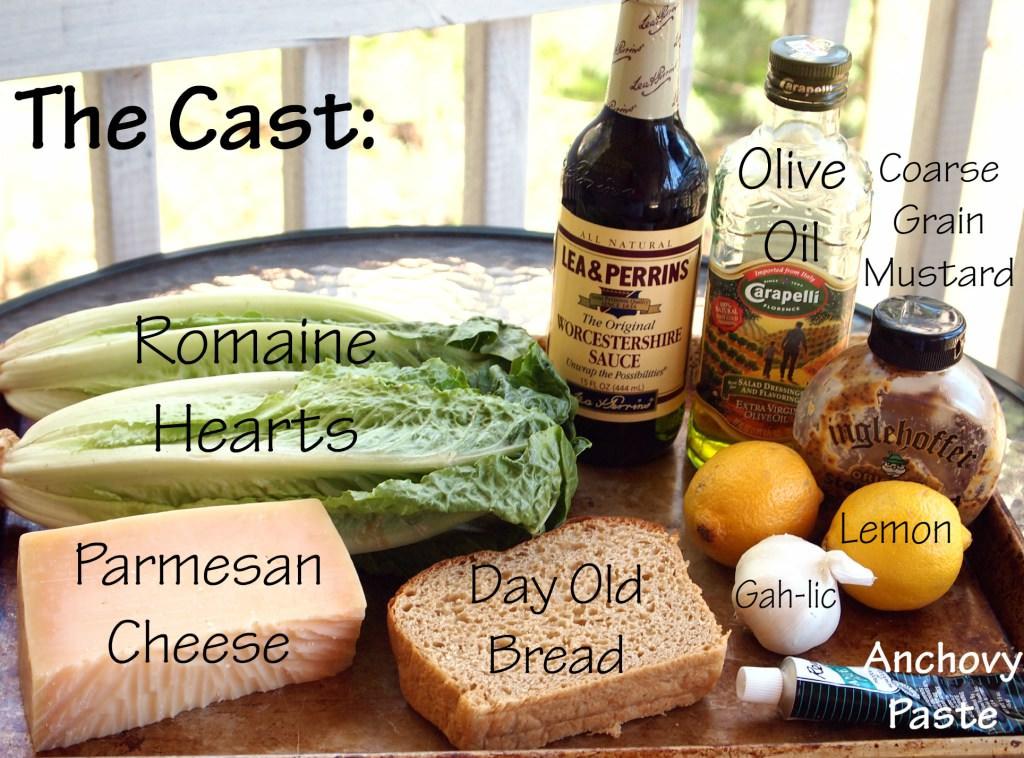 Simple Caesar Salad wtih Egg-Free Caesar Dressing | ComfortablyDomestic.com