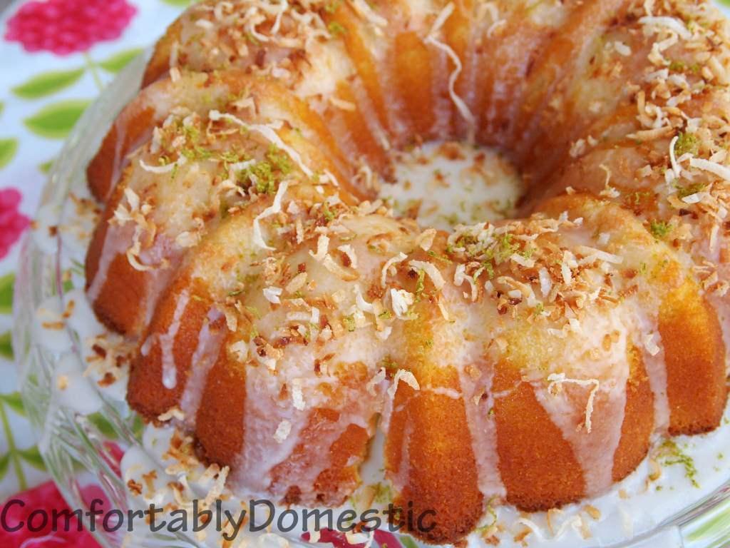 Coconut Bundt Cake with Key Lime Glaze  | ComfortablyDomestic.com
