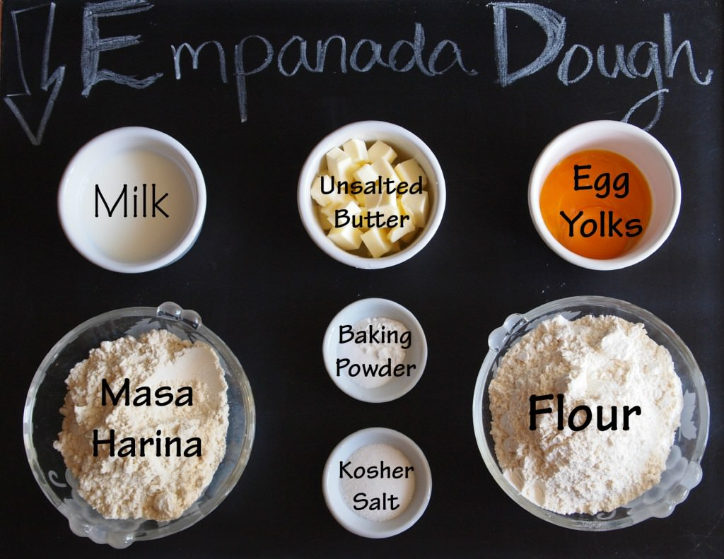 Ingredients needed to make empanadas dough