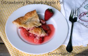 Strawberry Rhubarb Apple Pie