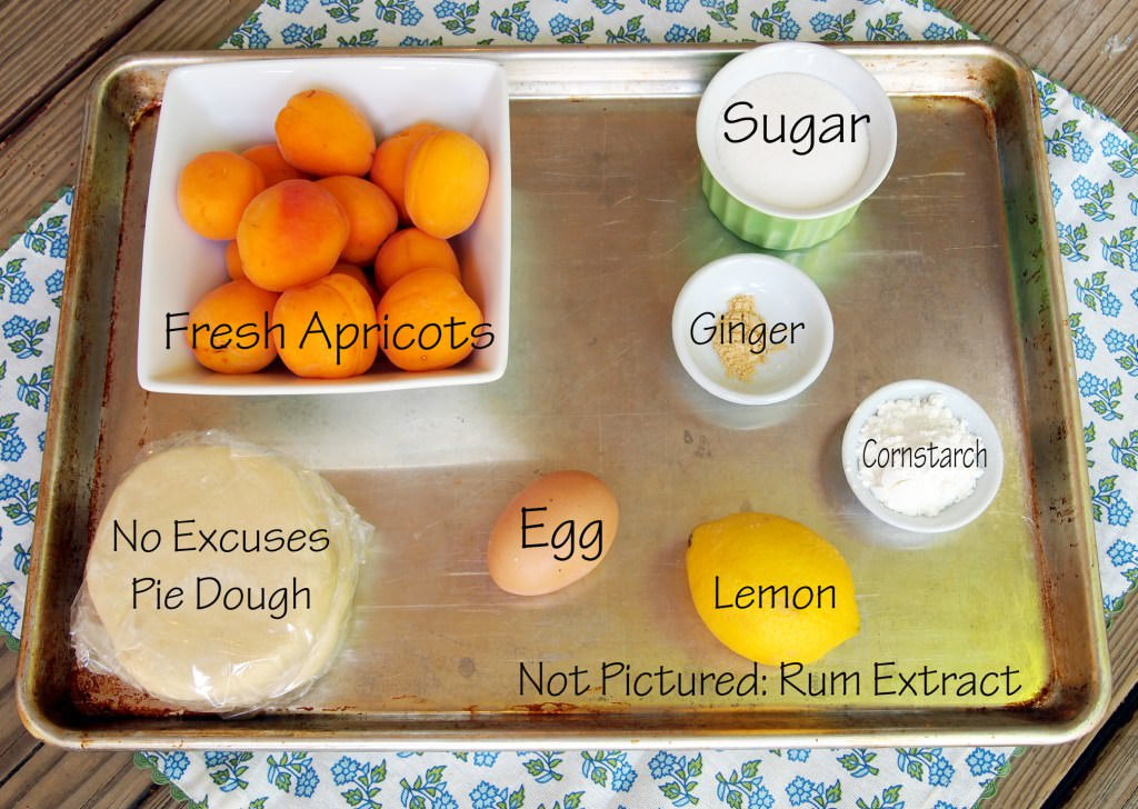 ingredients for Gingered Apricot Hand Pies | ComfortablyDomestic.com