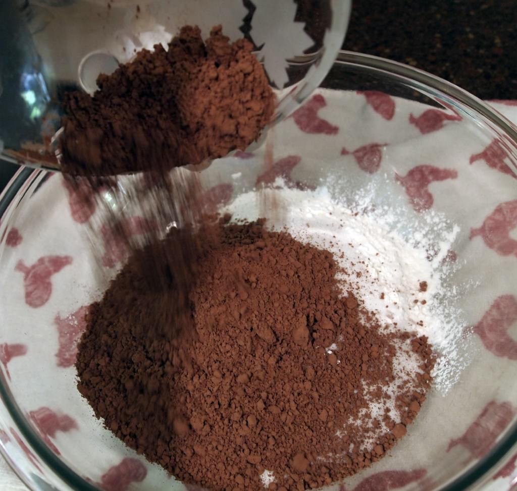 making my favorite chocolate cake recipe