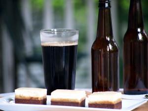 Black and Tan Brownies a.k.a. Beerownies