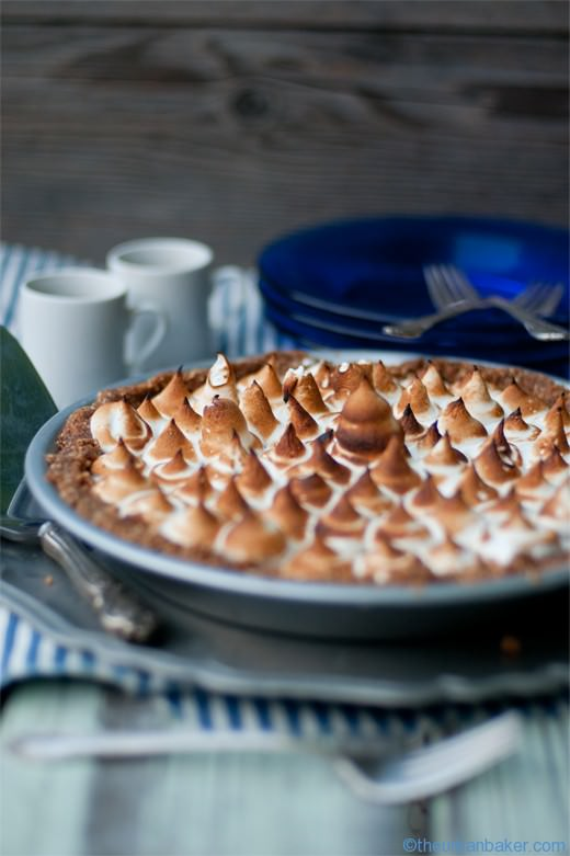 "#Gluten Free ""No Bake Mocha "" S'mores Pie - Easy Peasy 