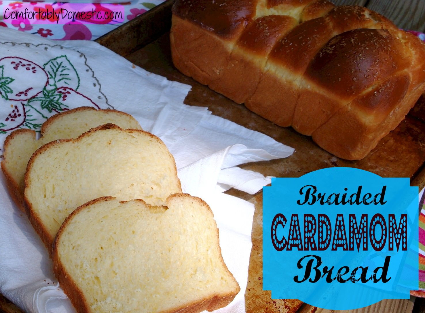 Braided cardamom bread, sometimes known as cardamom Nisu bread, is a ...