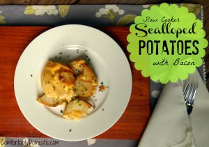 Comfort Worth Fighting Over: Slow Cooker Scalloped Potatoes with Bacon
