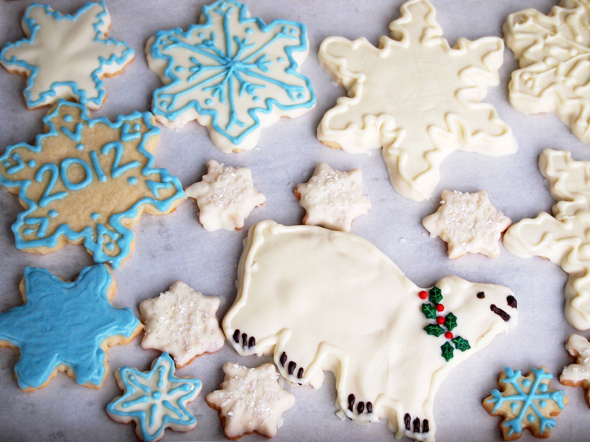 White Chocolate Decorated Shortbread Cookies from Comfortably Domestic