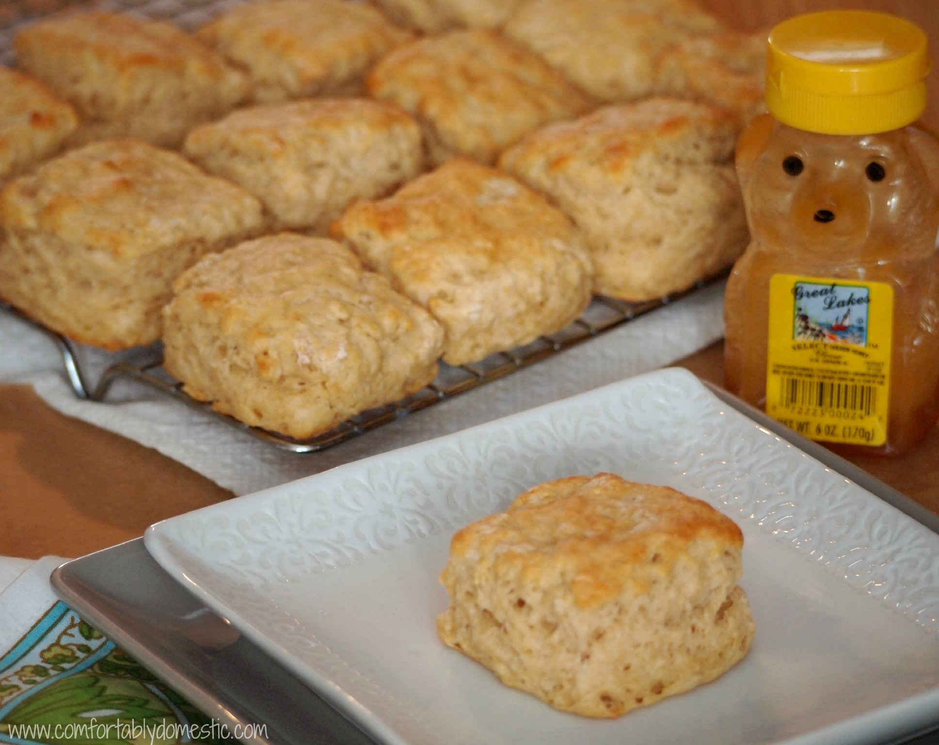 Whole Wheat Buttermilk Biscuits via Comfortably Domestic.com