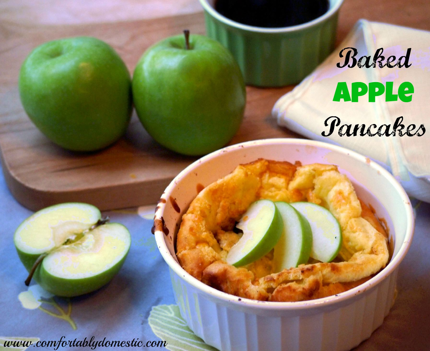 Baked Apple Pancakes via ComfortablyDomestic.com