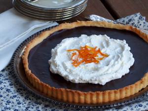Chocolate Orange Tart w/ Ginger Whipped Cream