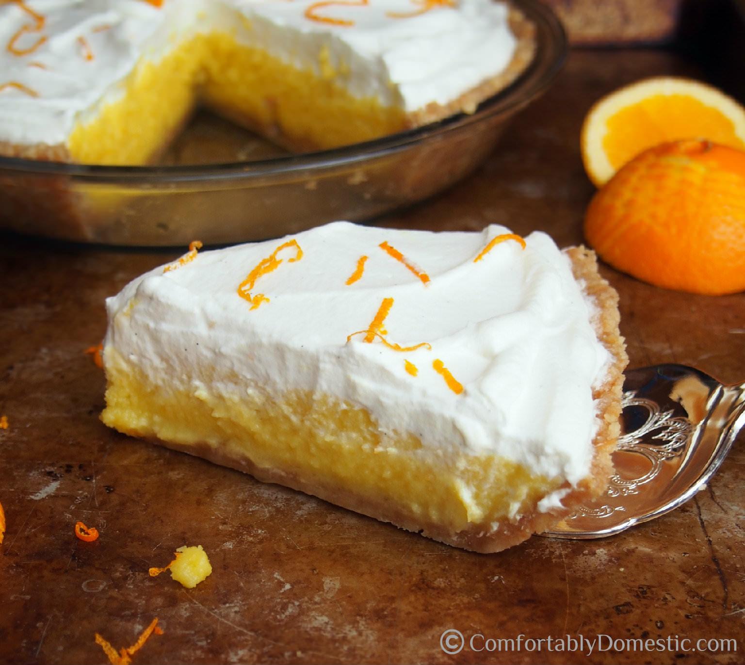 Orange Cream Pie || ComfortablyDomestic.com