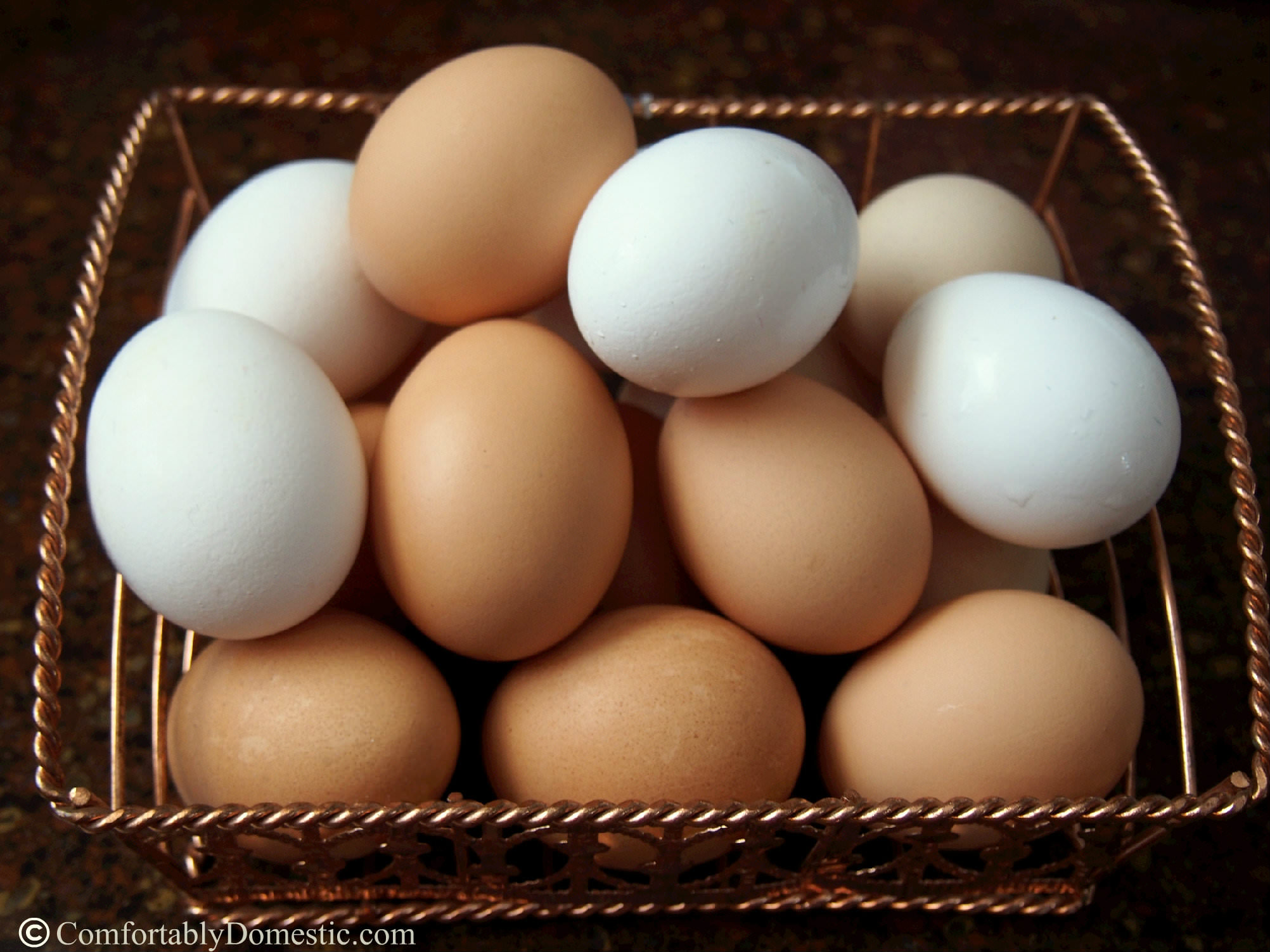 Farm Fresh Eggs via Comfortably Domesticf