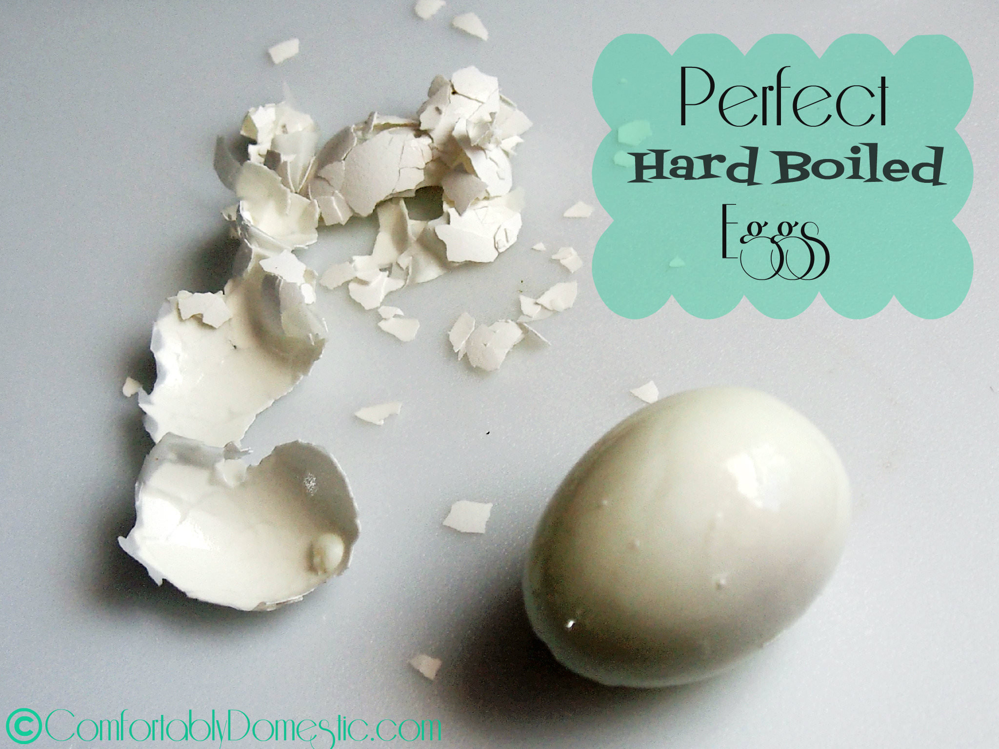 Perfect Hard Boiled Eggs via ComfortablyDomestic.com
