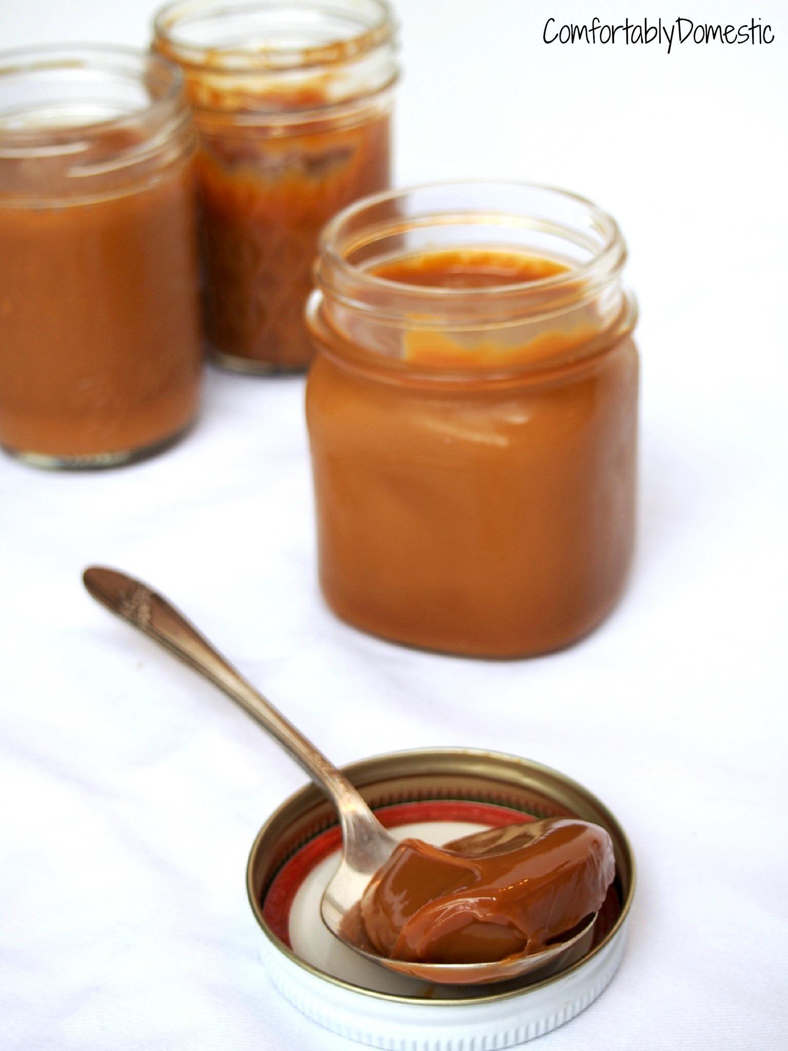 Crockpot Dulce de Leche Caramel - Comfortably Domestic