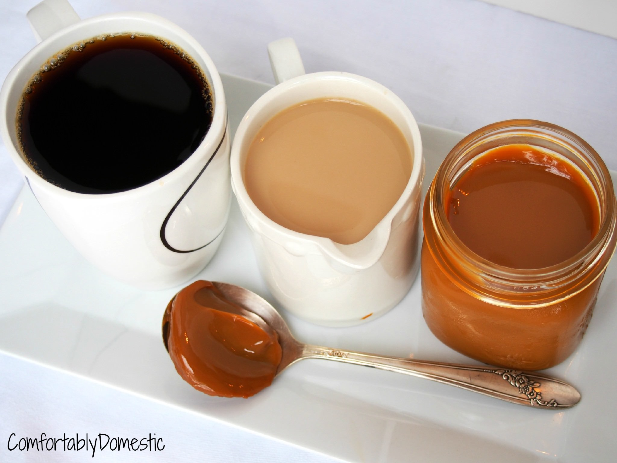 Do-it-Yourself Dulce de Leche Coffee Creamer | Comfortably Domestic