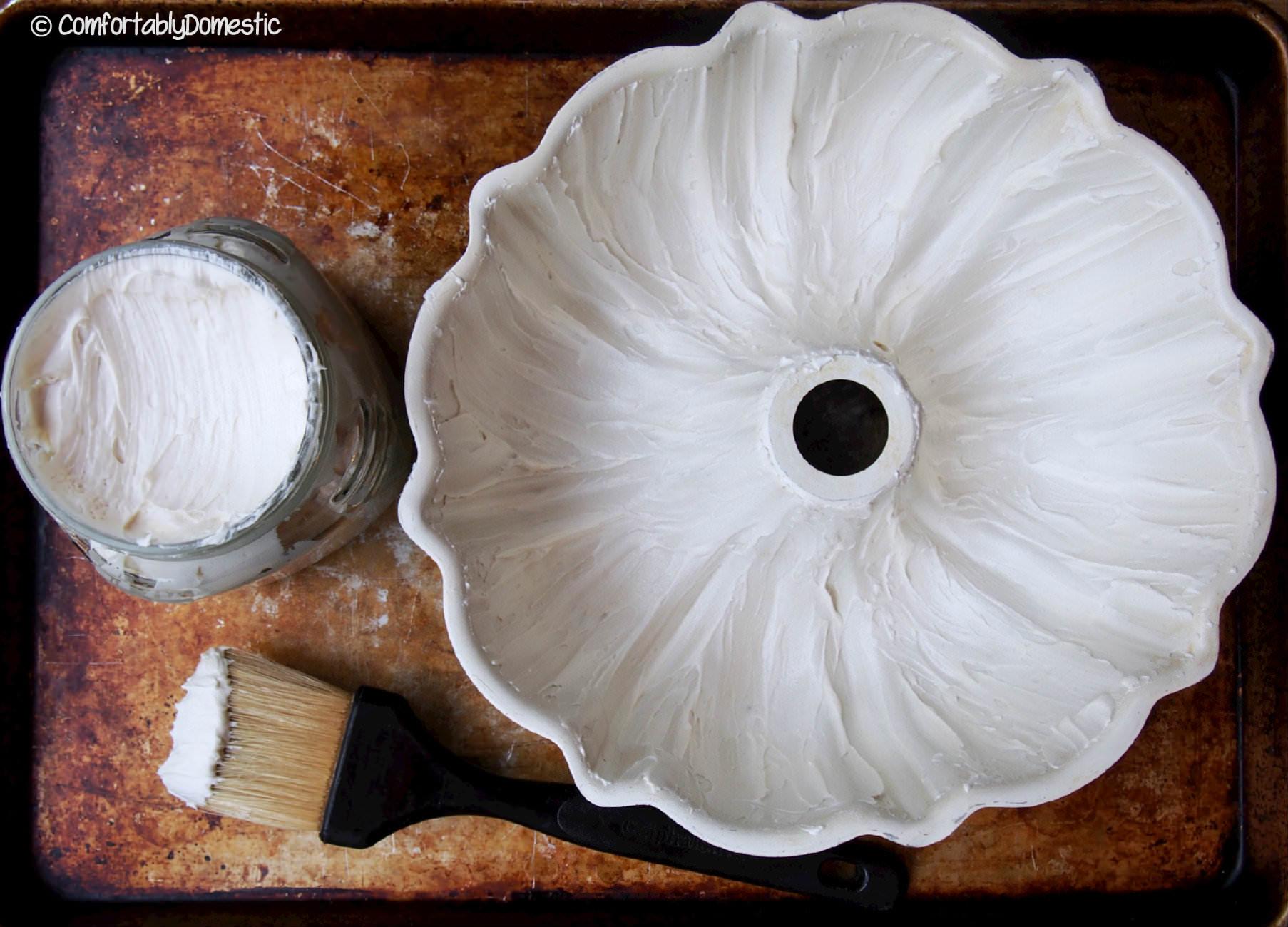 Baking Lube Pan Release via ComfortablyDomestic.com