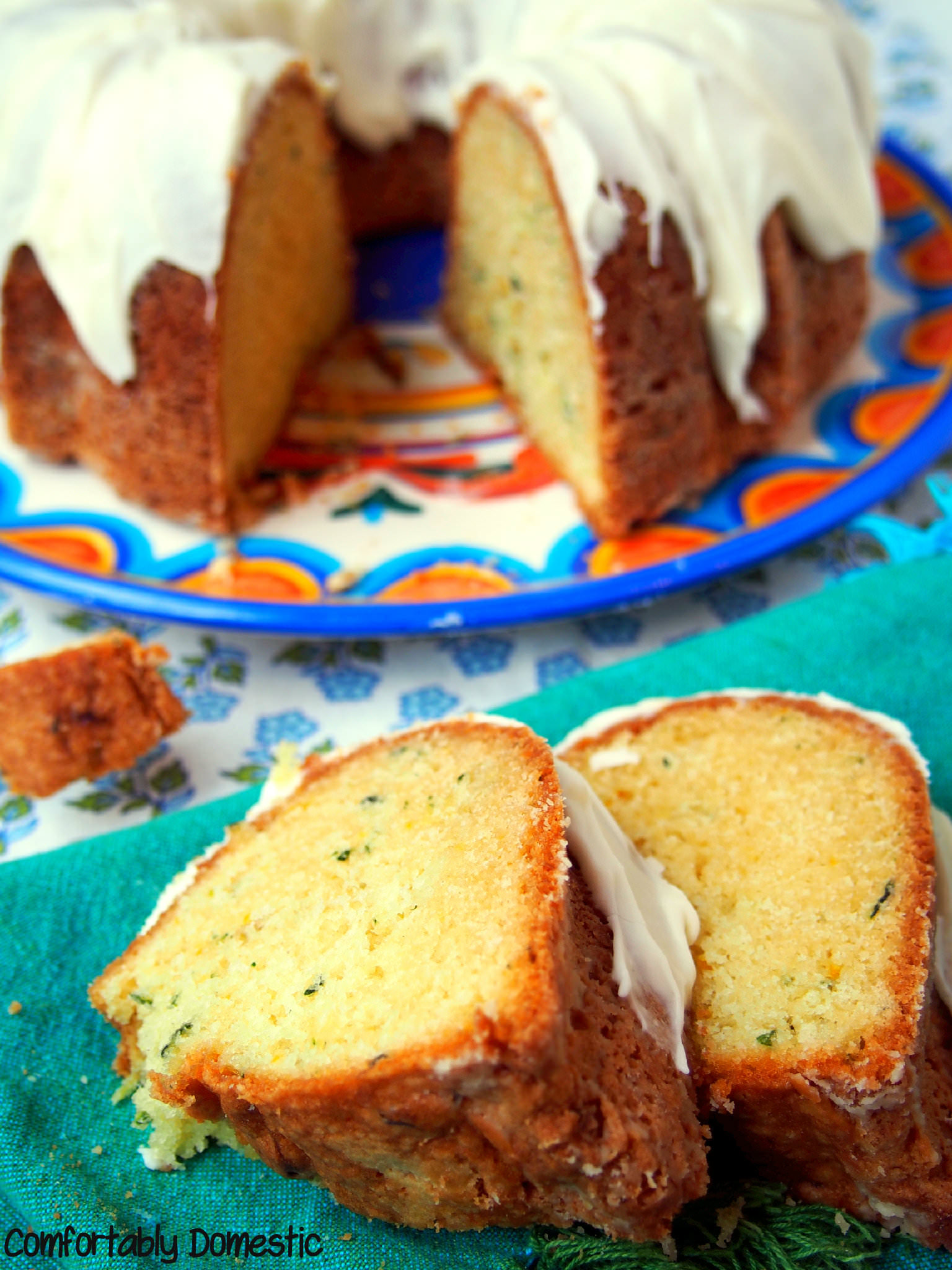Zucchini Bundt Cake with Lemon Cream Glaze | Comfortably Domestic