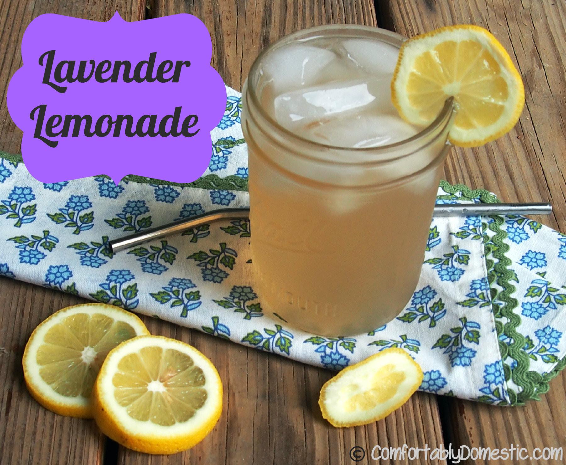 Fresh Lavender Lemonade | ComfortablyDomestic.com