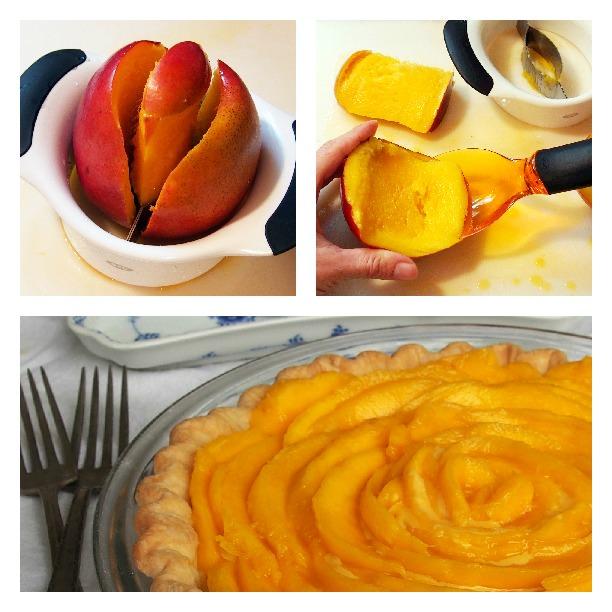 Fresh Mango Cream Pie | ComfortablyDomestic.com