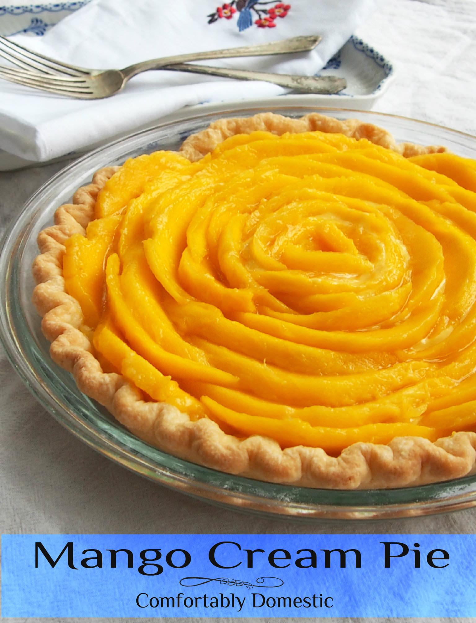 Mango Cream Pie | ComfortablyDomestic.com