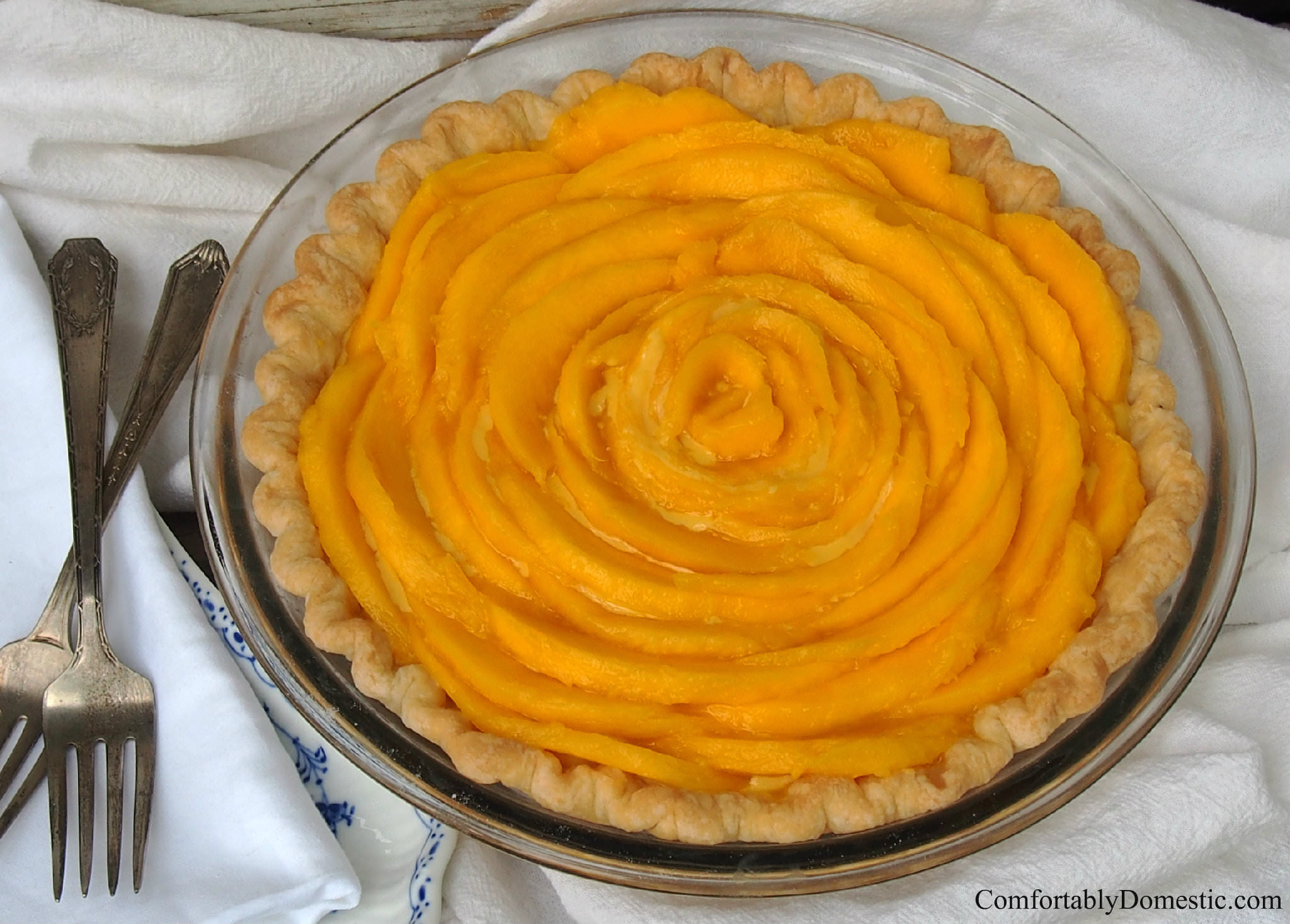 Mango Cream Pie 2 | ComfortablyDomestic.com