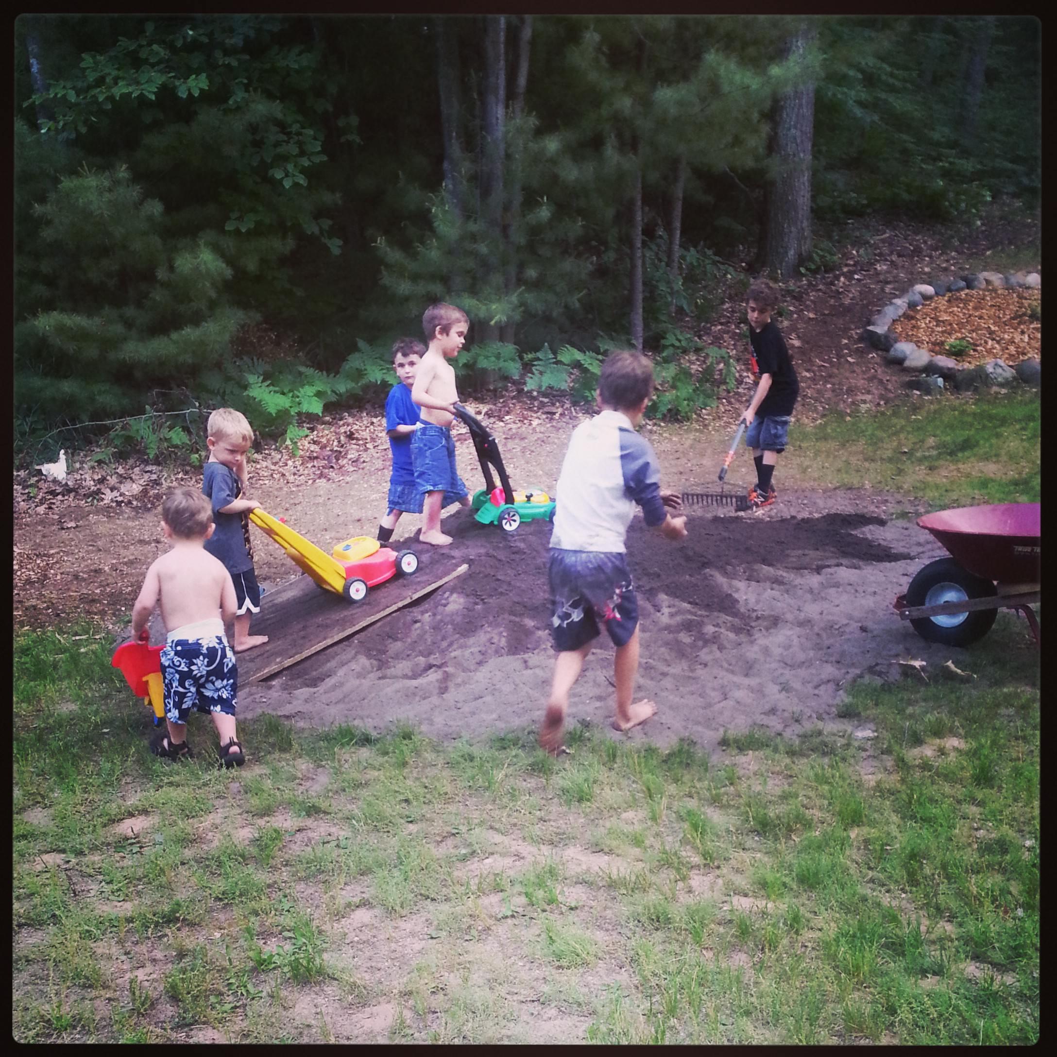 kids in dirt
