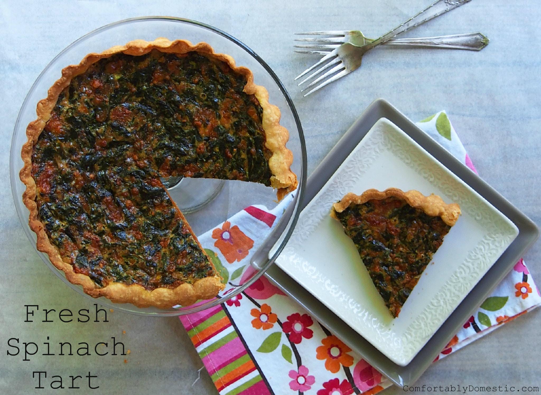 Fresh Spinach Tart | ComfortablyDomestic.com
