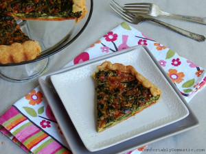 Fresh Spinach Tart {Community Supported Agriculture CSA Recipes}