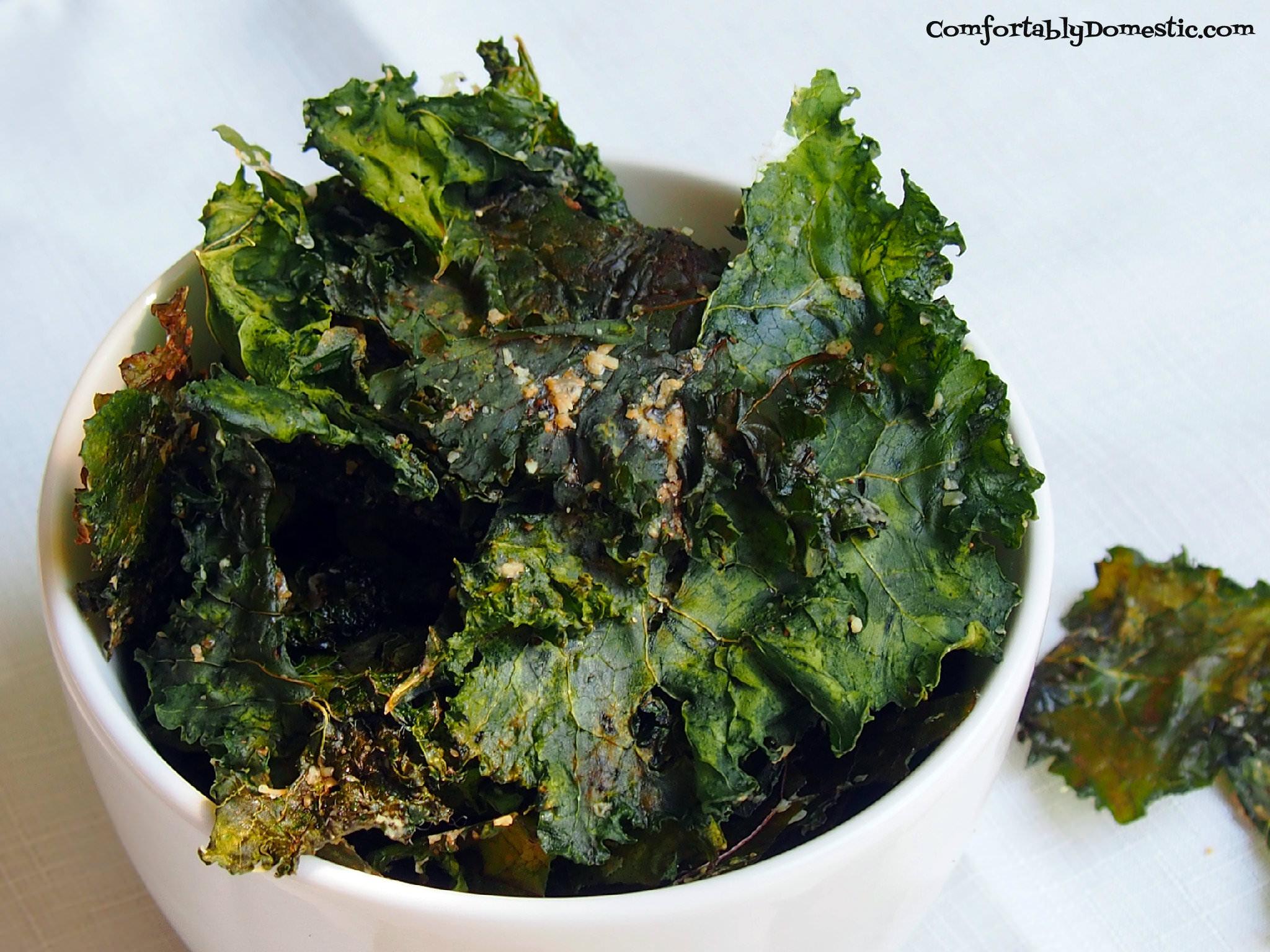 Cheesy Kale Chips {CSA Recipe}