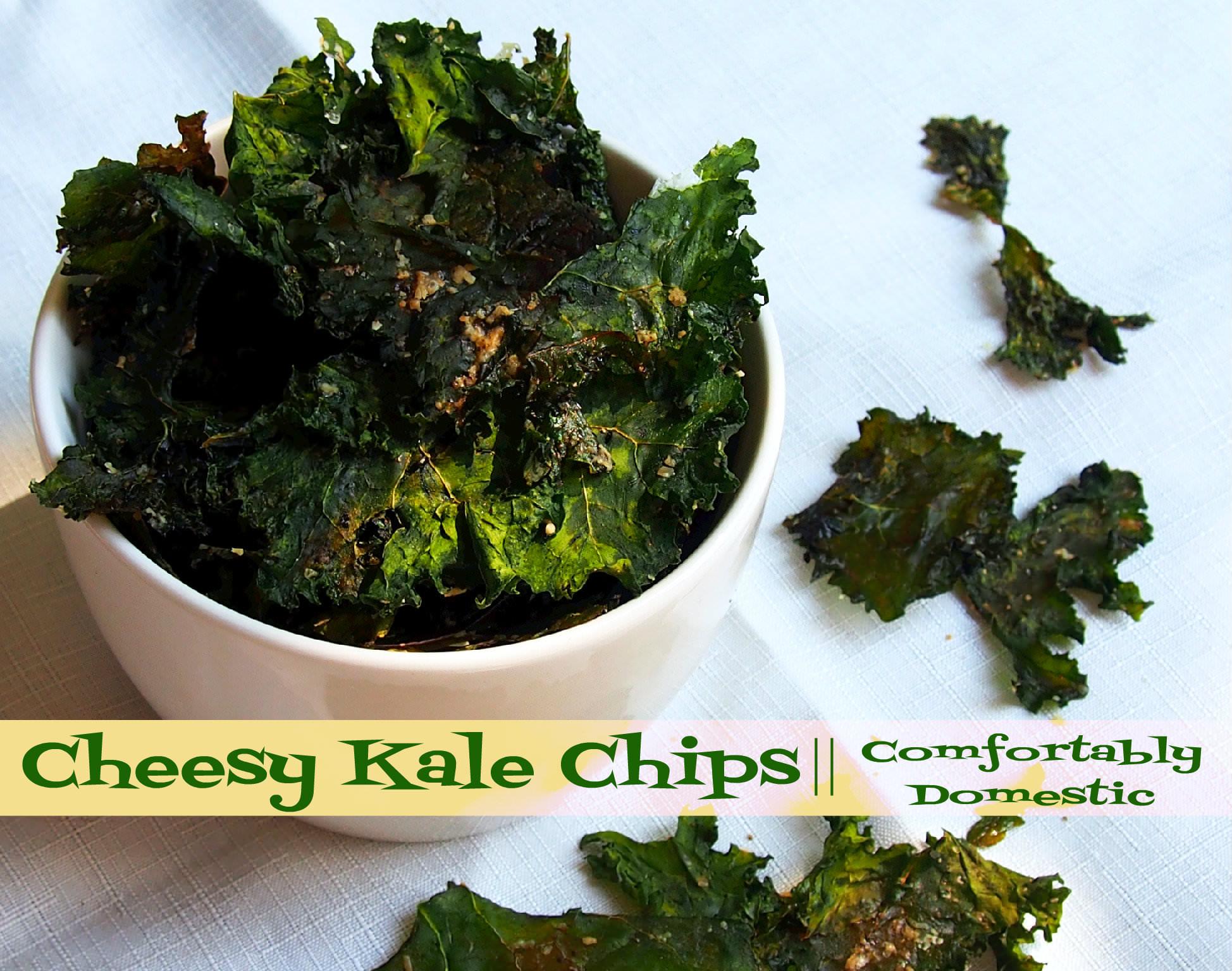 Cheesy Kale Chips   ComfortablyDomestic.com