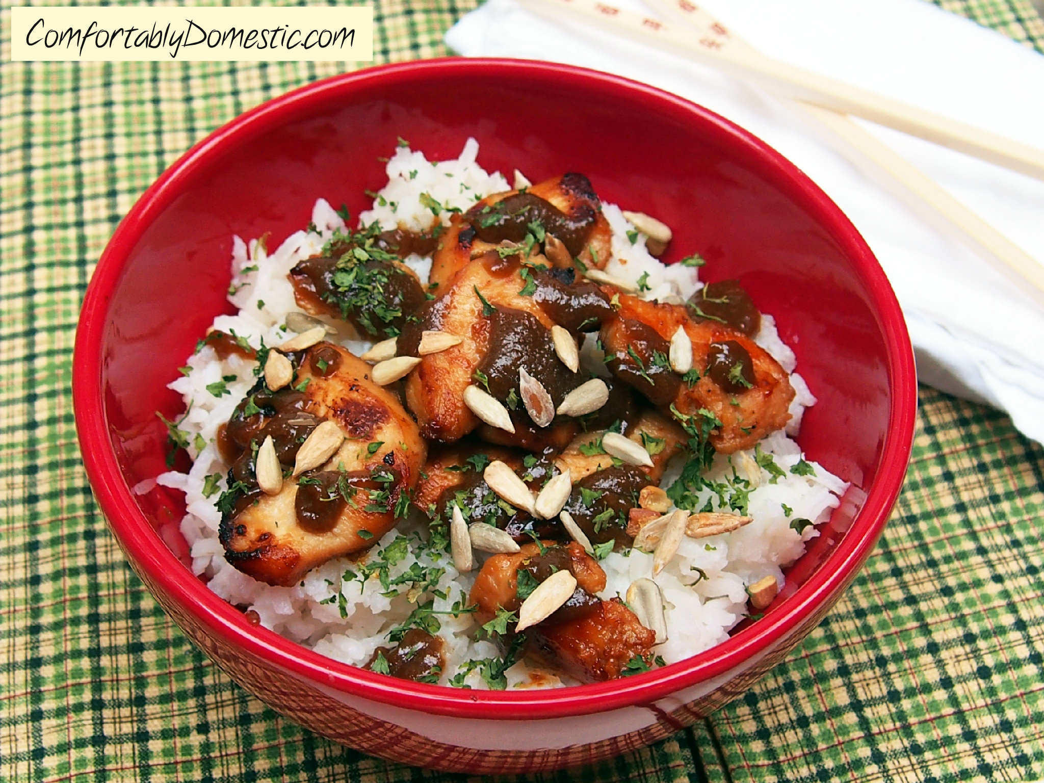 Nut-Free Chicken Satay with Coconut Rice.